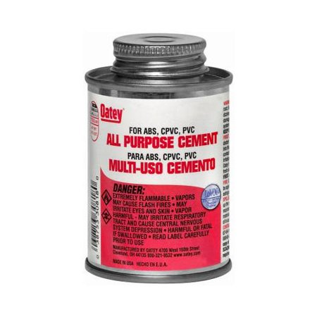 Solvent Cement (Oatey 30821 8-oz. Clear All-Purpose Solvent Cement)