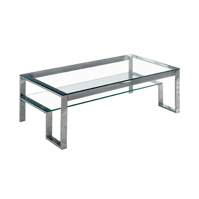 Furniture of America Ayetti Metal Coffee Table in Chrome