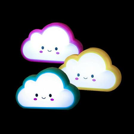 Induction Lighting - VicTsing 3 PCS Auto LED Light Induction Bedroom Cloud Shape Night Lights Bed Lamp