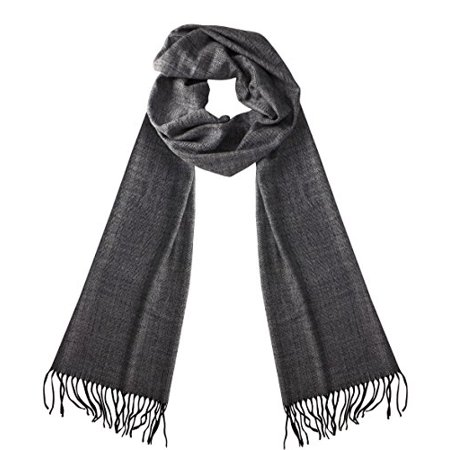 Soft Cashmere Feel Plaid Houndstooth Print Scarf Unisex Scarves Warm & Cozy (Stripe Light Gray) - image 1 of 1