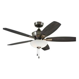 Emerson 52 Blade (Emerson Lindell Ceiling Fan/Light, 52 Inch Blade Sweep, 12 deg Blade)