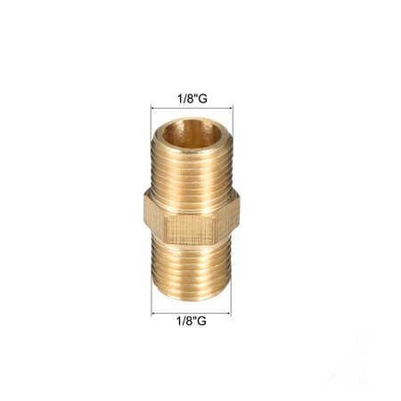 """Brass Pipe Fitting, Thread Hex Nipple 1/8"""" x 1/8"""" G Male Pipe Brass Fitting 4pcs - image 4 of 4"""