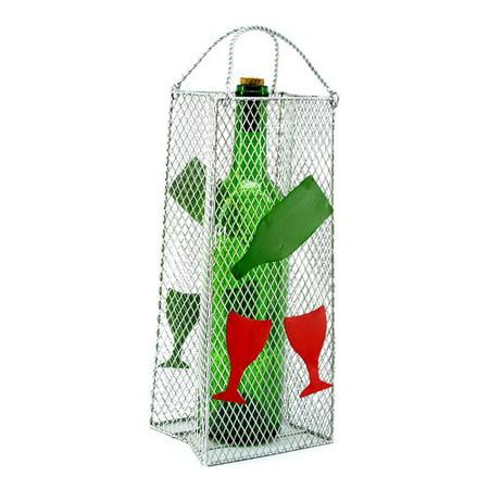 Three Star Im/Ex Inc. Gift Bag, Wine Glass 1 Bottle Tabletop Wine Rack