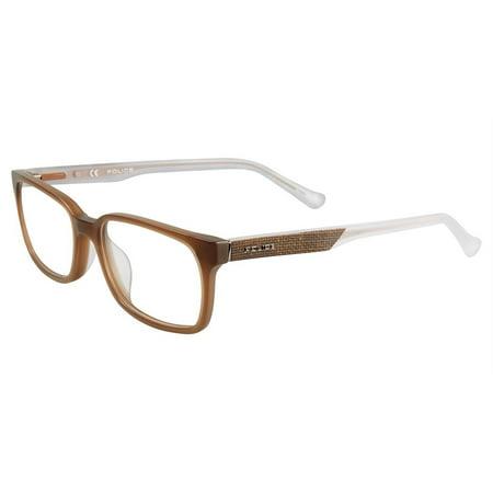 Police VPL253 Eyeglasses Matt Milk Brown G41m