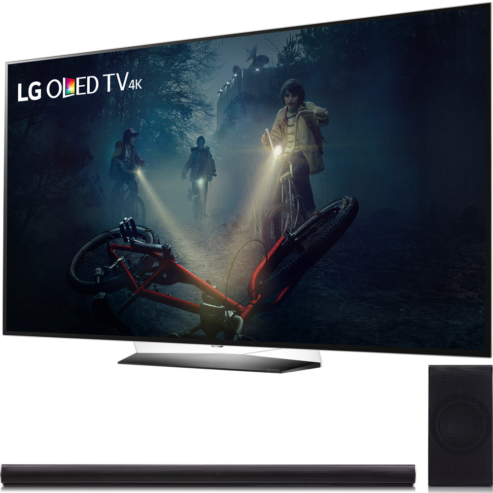 "LG B7A Series 55"" OLED 4K HDR Smart TV 2017 Model (OLED55B7A) LG 360W 4.1ch Music Flow Wi-Fi Sound Bar with Wireless Subwoofer"