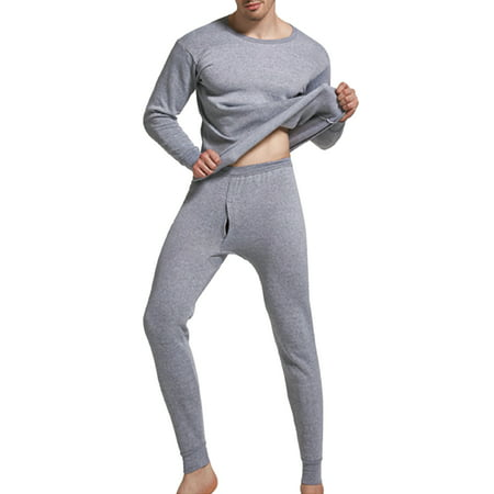 Sexy Dance M-4XL Men's Ultra Soft Thermal Underwear Long Johns Set with Fleece Lined Base Layer Long John Set Long Sleeve Tops + Long Pants Expedition Weight Long Underwear