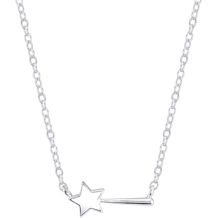 Disney Princess Women's' Sterling Silver Magic Wand Station Necklace