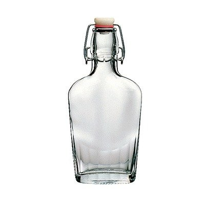30 pcs master carton #388540 250ML / 8.5Ounce flask bottle from Italy with swing top.. Beautiful Italian Glass (Swing Top Bottles)