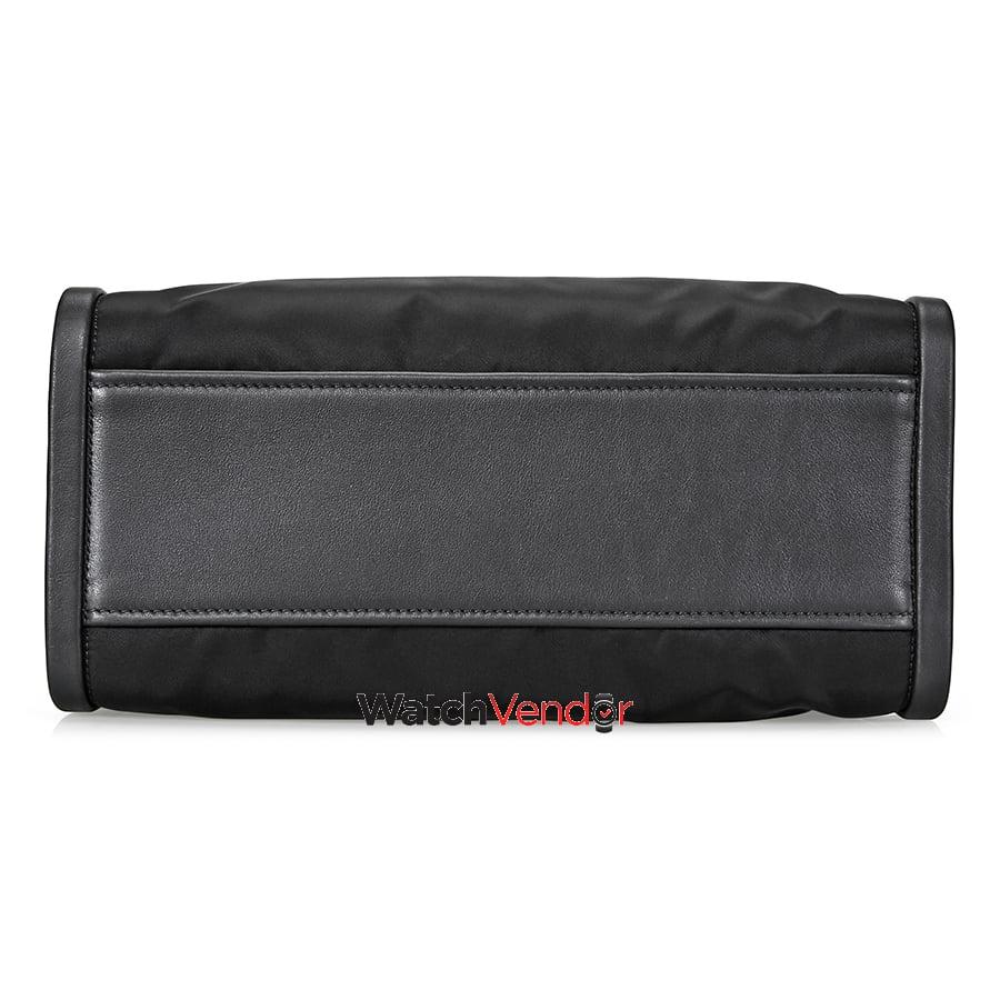 83ce11c642f6 Prada Concept Medium Fabric Leather Crossbody - Black