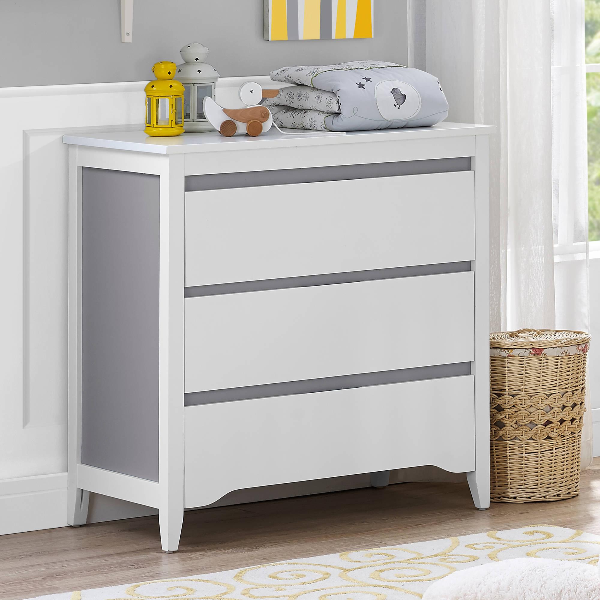 Baby Relax Aaden 2 Toned 3 Drawer Dresser Walmart Com