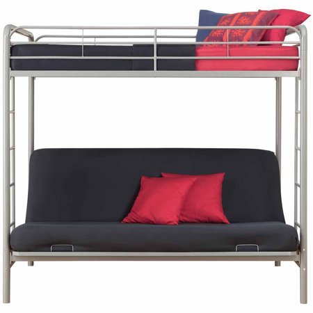 Dorel Home Products Twin Over Futon Low Loft Bed With Built In Ladder