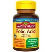 Nature Made Folic Acid 400 mcg (665 mcg DFE) Tablets, 250 Count