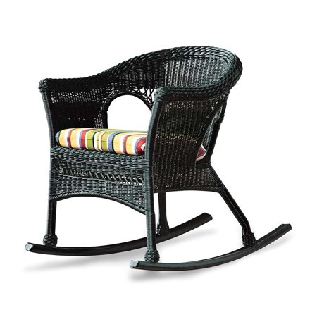 new concept 9a6d9 59b72 Easy Care Wicker Rocker / Patio Rocking Chair