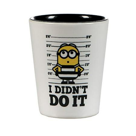 Universal Studios Despicable Me 3 Minions Prison I Didn't Do It Shot Glass New