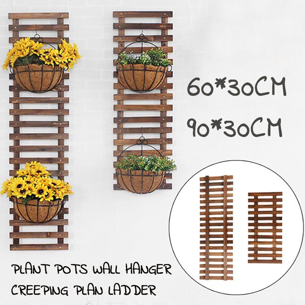 Plant Flower Hanging Wall Holder Wood Plant Stand Flower Pot Holder Display Shelves Rack Indoors Outdoors Climbing Vine Growth Shelf Walmart Com Walmart Com