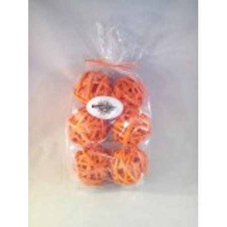 Decorative Spheres Orange Rattan Vase Filler Ornament Decoration