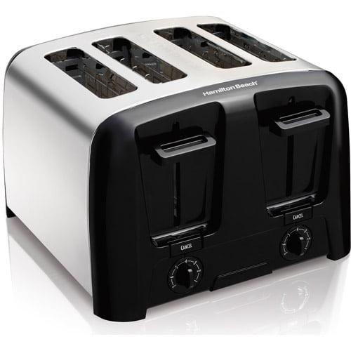 Hamilton Beach Cool Wall 4-Slice Toaster, Chrome