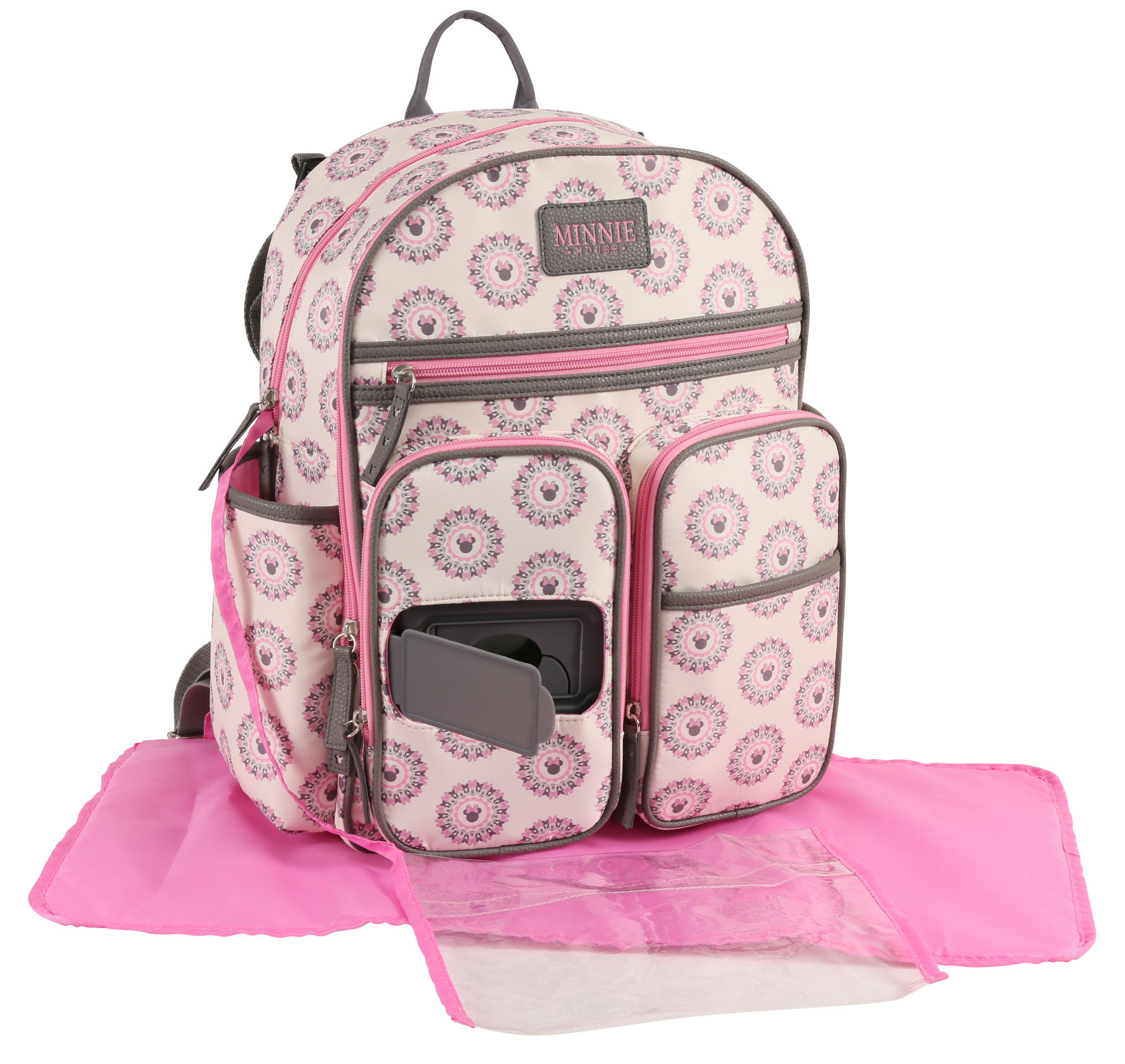 Disney Minnie Mouse Backpack Diaper Bag, Pink