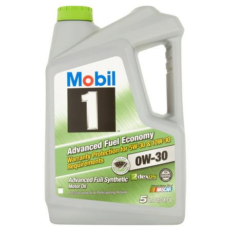 Mobil 1 0W 30 Advanced Fuel Economy Full Synthetic Motor Oil  5 Qt