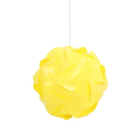 modern plastic pendant light with small yellow shade. Black Bedroom Furniture Sets. Home Design Ideas
