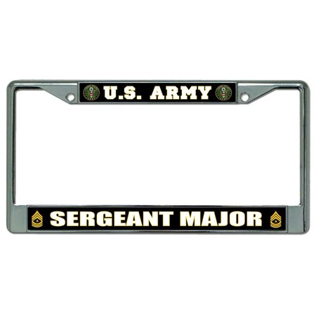 U.S. Army Sergeant Major Chrome License Plate Frame