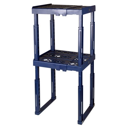 Tools for School Locker Shelf, Adjustable in Height and Width, Blue (2-Pack)