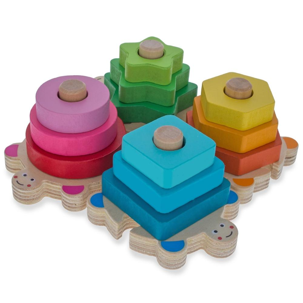 Baby Shape and Color Learning Wooden Blocks Set
