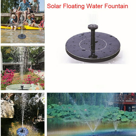 Mini Solar Powered Floating Fountain Pool Water Pump Garden Plants Watering, With 4 different Spray Heads for Bird Bath Pond, Pool, Patio Decoration (Solar Pond Waterfall Pump)