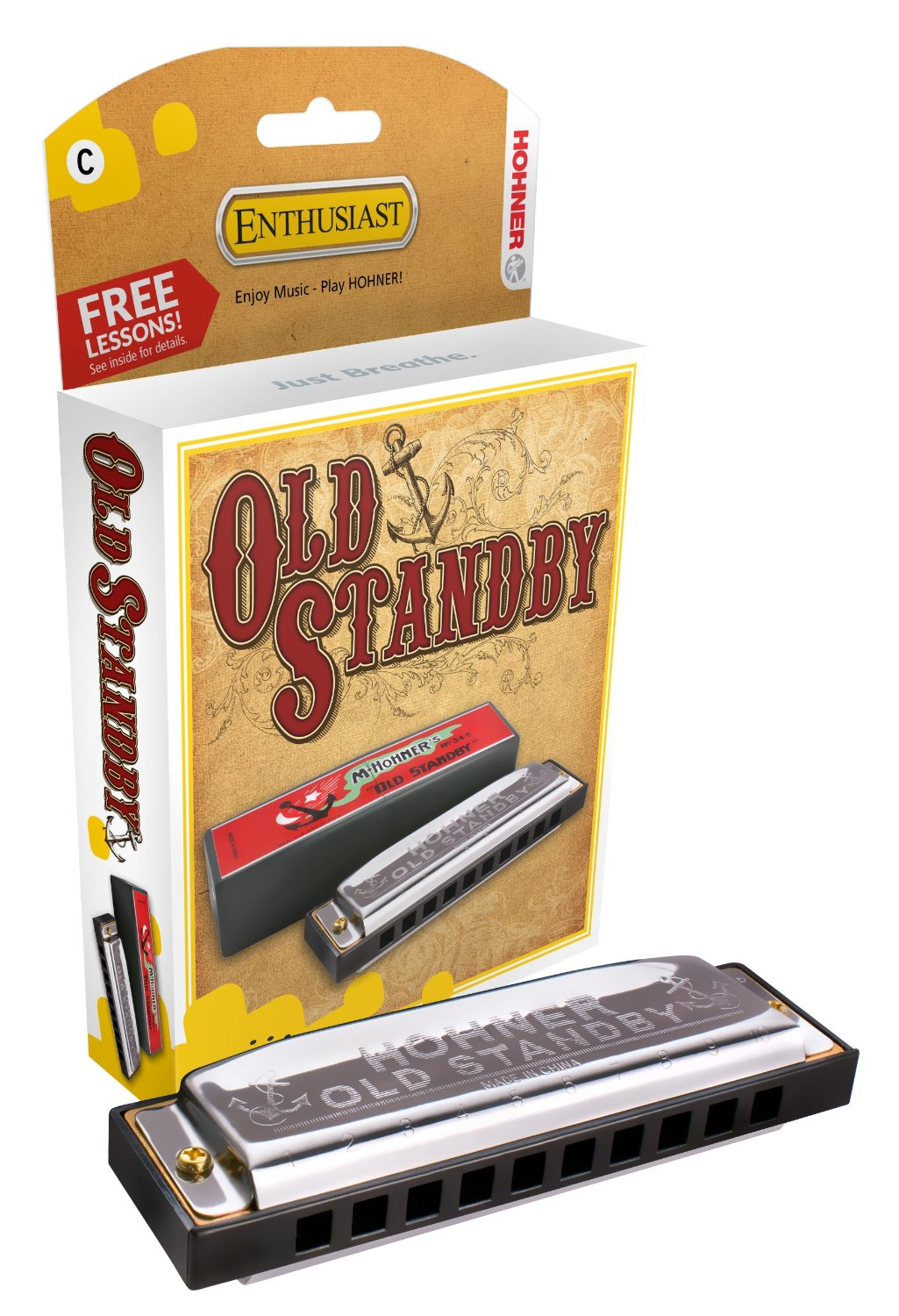 Hohner 34B-BX-C The Old Standby Harmonica in Key of C by Hohner