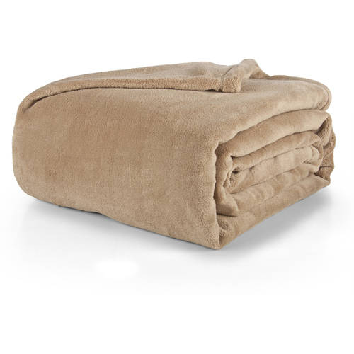 Mainstays Plush Bed Blanket, Multiple Sizes & Colors by Ching Feng Home Fashions