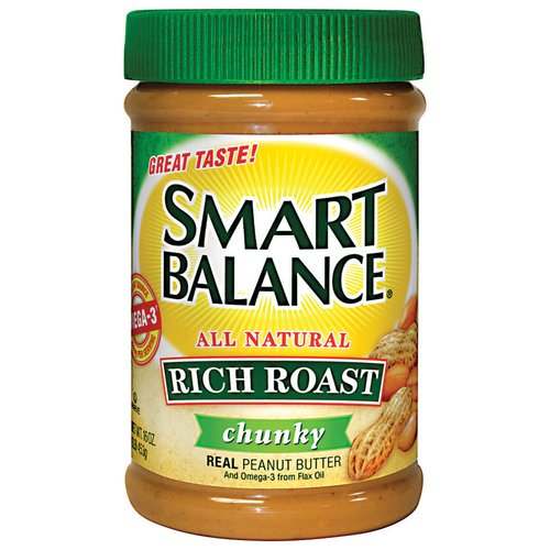 Smart Balance All Natural Rich Roast Chunky Real Peanut Butter, 16 oz