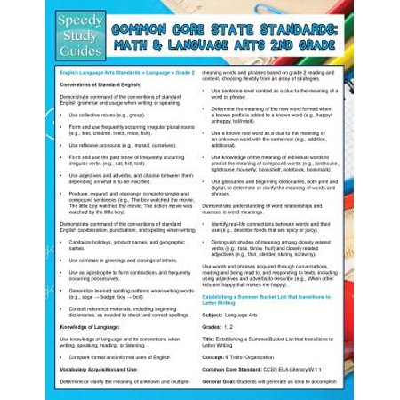 Common Core State Standards : Math and Language Arts 2nd Grade (Speedy Study
