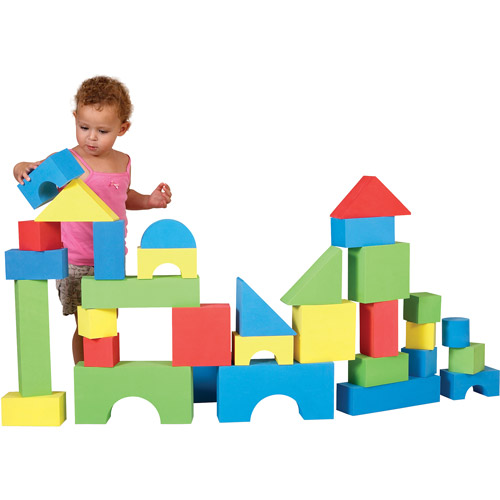 Edushape Big Educolor Blocks, 32-Piece