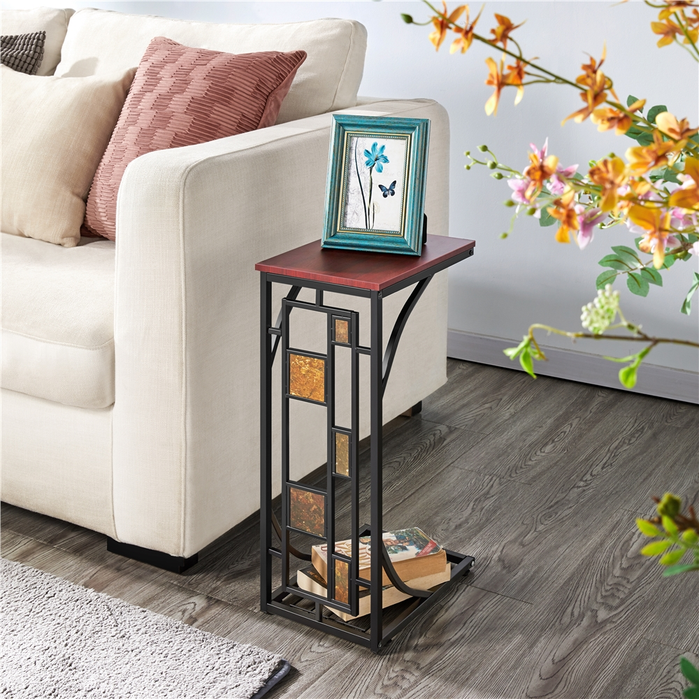 Living Room Sofa Side End Snack Table Tray Stand Rack Walmart Com Walmart Com