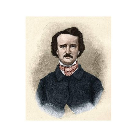 Portrait of Edgar Allan Poe Print Wall Art By Stefano Bianchetti