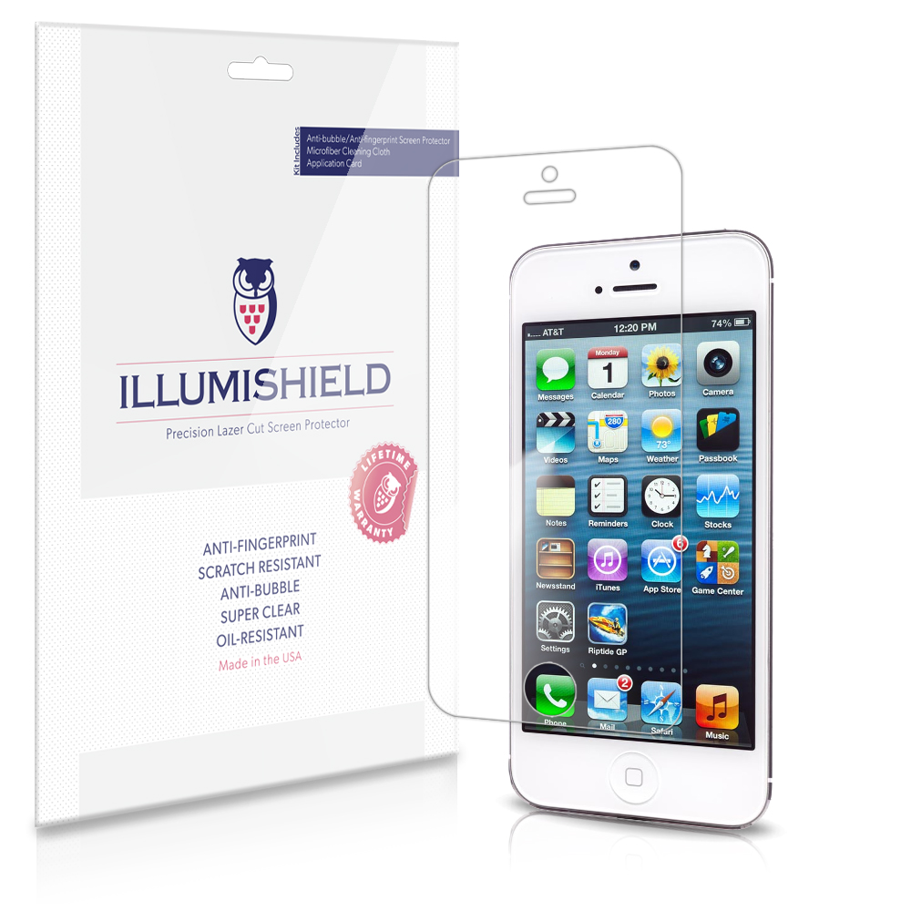 iLLumiShield Screen Protector Clear HD for Apple iPhone 5 S / 5SE / 5 SE