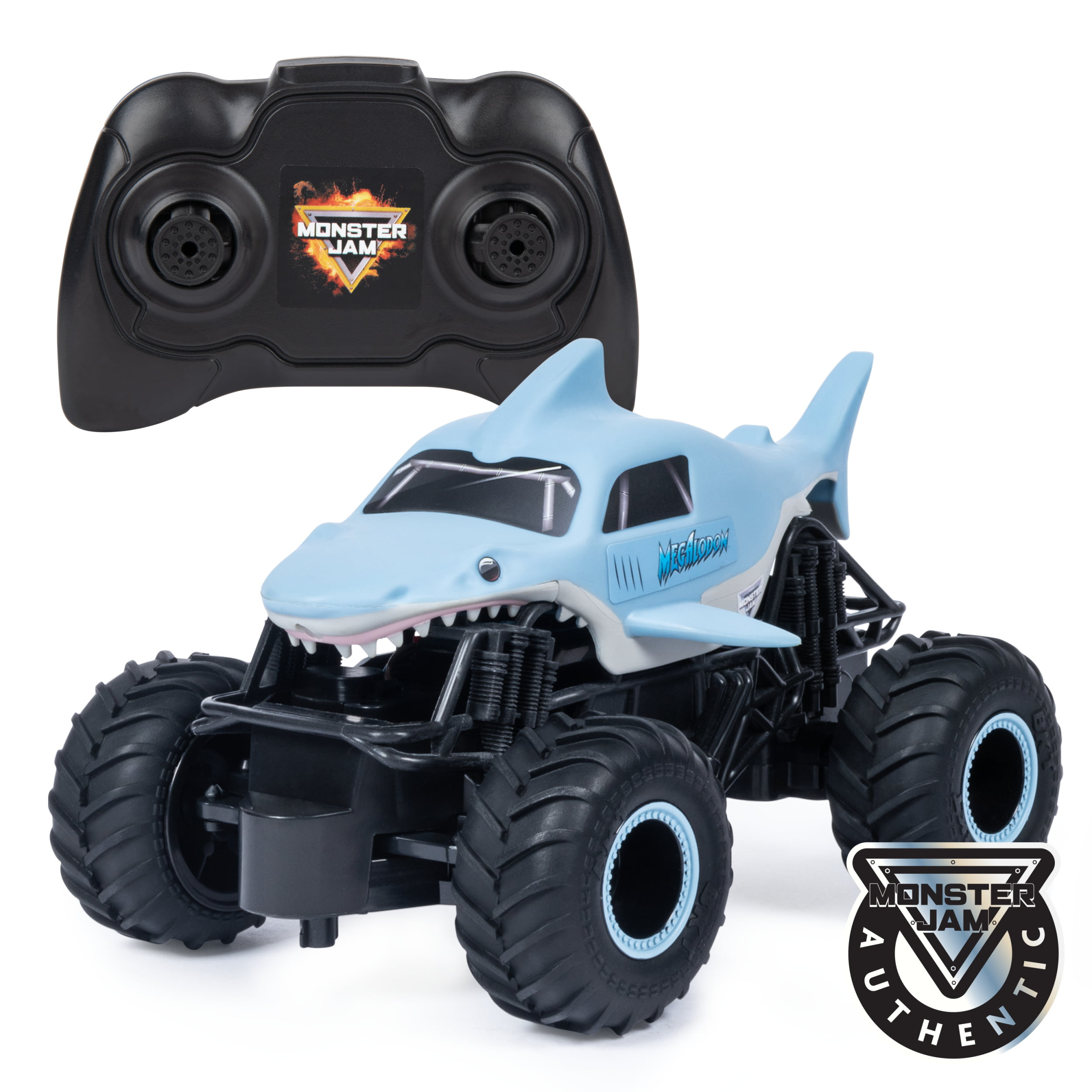 Monster Jam, Official Megalodon Remote Control Monster Truck, 1:24 Scale, 2.4 GHz, for Ages 4 and Up by Spin Master Ltd