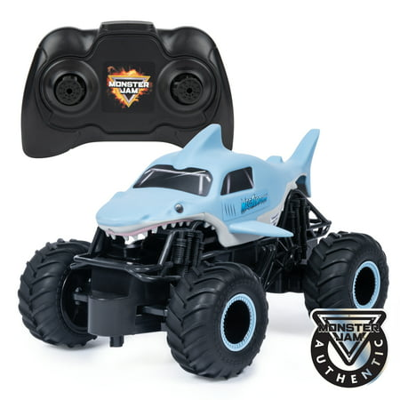 Monster Jam, Official Megalodon Remote Control Monster Truck, 1:24 Scale, 2.4 GHz, for Ages 4 and