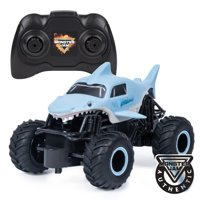 Monster Jam, Official Megalodon Remote Control Monster Truck, 1:24 Scale, 2.4 GHz, for Ages 4 and Up