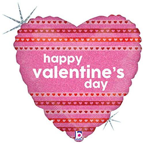 Valentine's Day Balloons (Valentine Ribbons Mylar Balloon)