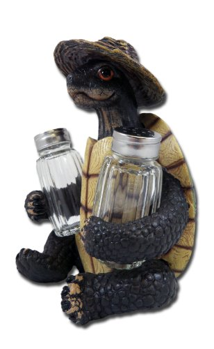 Click here to buy Turtle Soup Salt and Pepper Shaker Set Green Tortoise Box Sea Turtles by DWK.