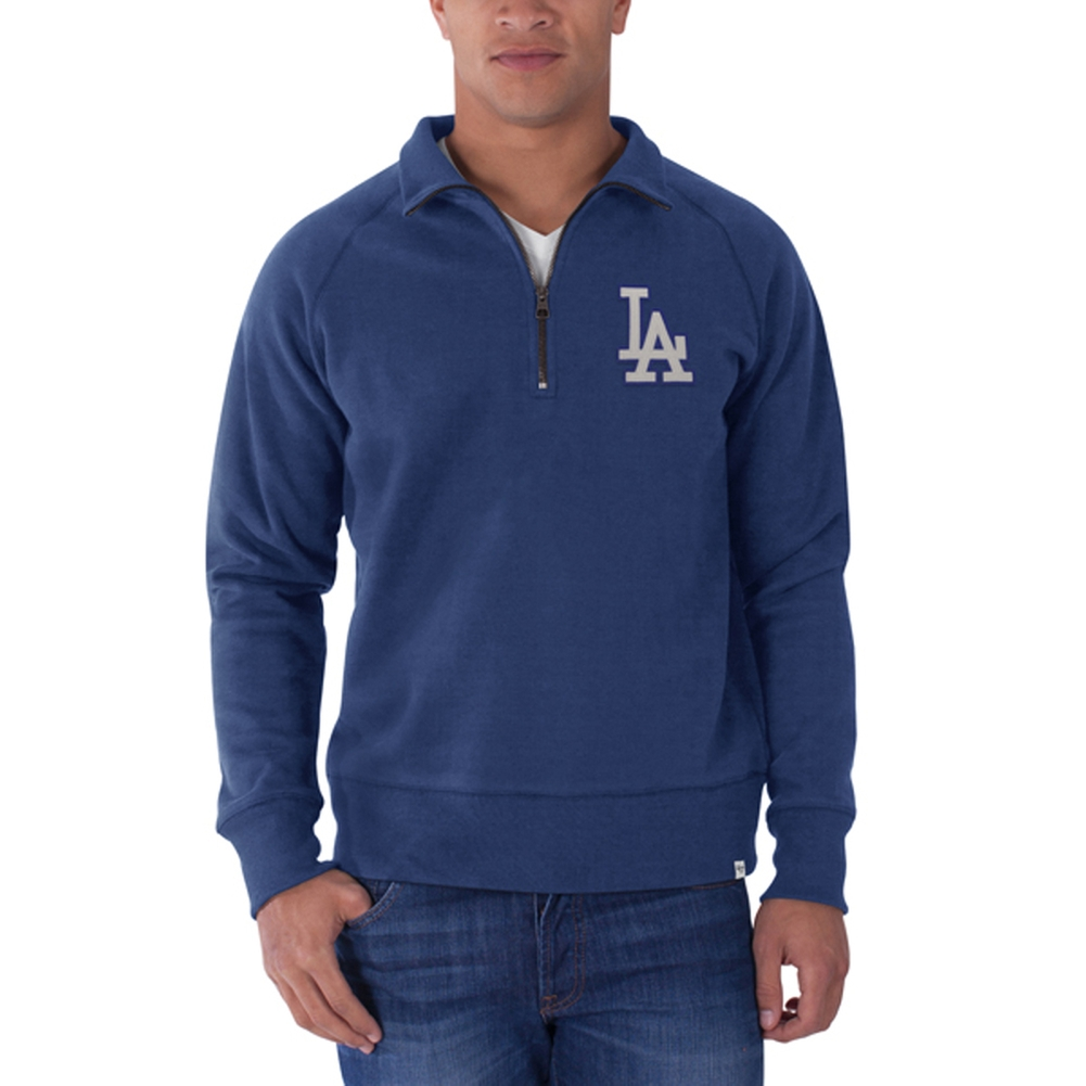 Los Angeles Dodgers - Cross Check 1/4 Zip Pullover Sweater - Medium