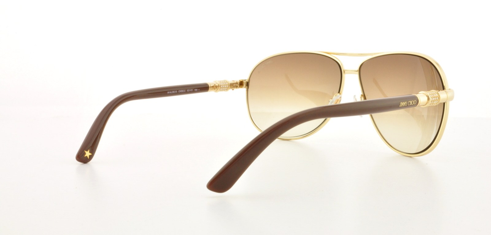 be53839064 Jimmy Choo Sunglasses - Walde S   Frame  Rose Gold Lens  Brown gradient -  Walmart.com