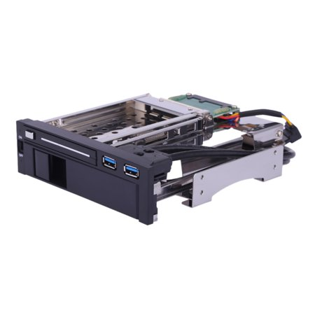 "Dual Bay 3.5"" + 2.5"" Inch SATA III Hard Drive HDD & SSD Tray Caddy Internal Mobile Rack Enclosure Docking Station with USB 3.0 Port Hot Swap"