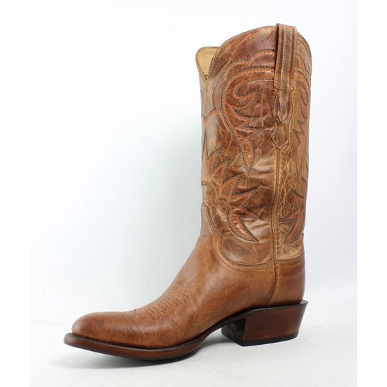 61cdf5b8520 Lucchese Mens Hl1504.63 Tan Burnished Cowboy, Western Boots Size 8 (2E)
