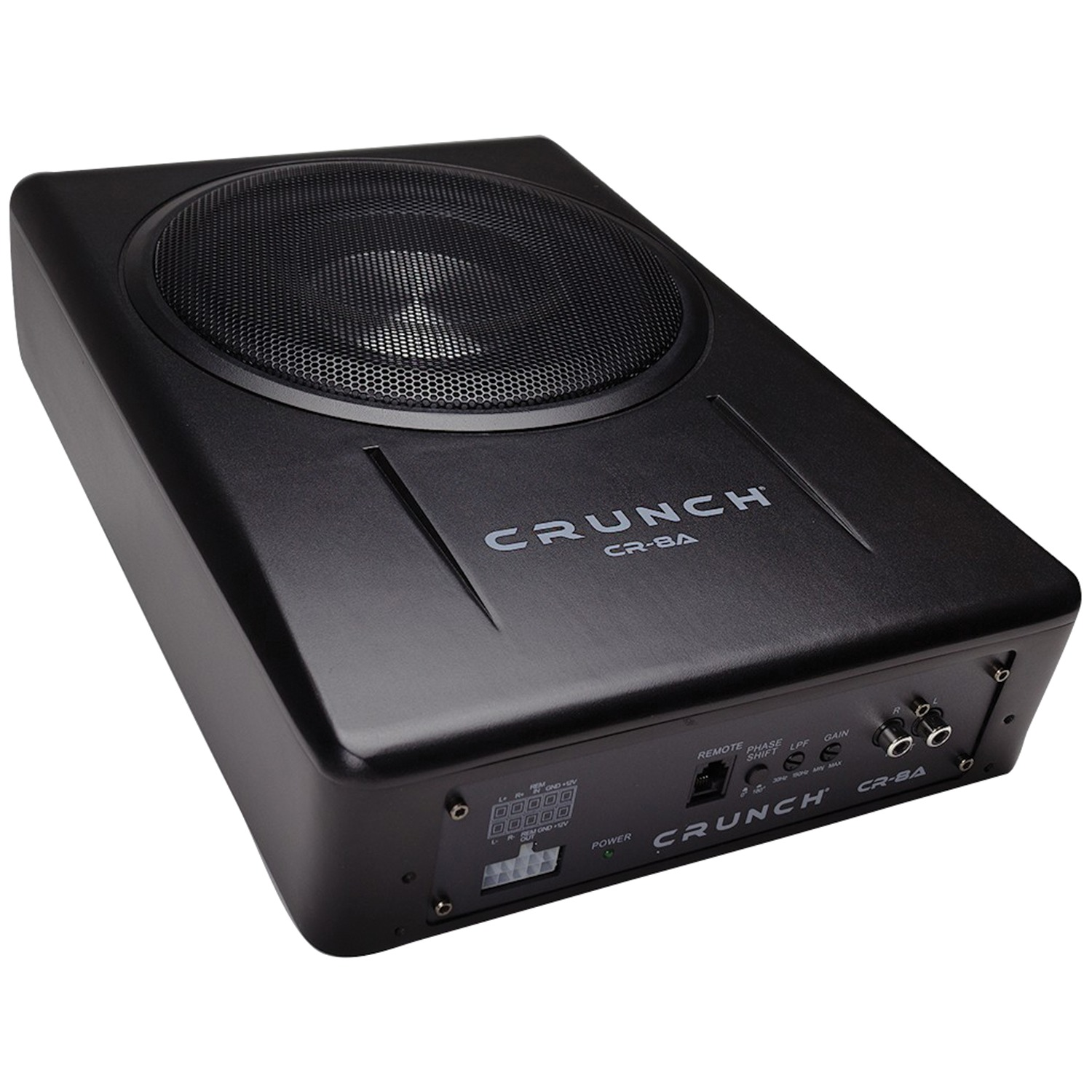 "Crunch CR-8A CR-8A Powered 8"" 400-Watt Low-Profile Subwoofer System"