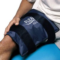 "FlexiKold Gel Ice Pack w/Straps (Standard Large: 10.5"" x 14.5"") - One (1) Reusable Cold Therapy (for Pain and Injuries, wrap Around Knee, Shoulder, Back, Ankle, Neck, Hip, Wrist) - 6300 Cold-Strap"