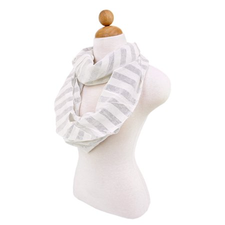 Premium Striped Glitter Infinity Loop Fashion Scarf