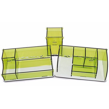 Set of 3 Stationery Desk Supplies Organizer Storage Boxes Containeres