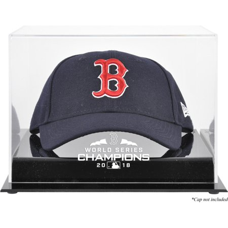 Boston Red Sox 2018 MLB World Series Champions Acrylic Logo Cap Display (Mlb Logo Baseball Display Case)